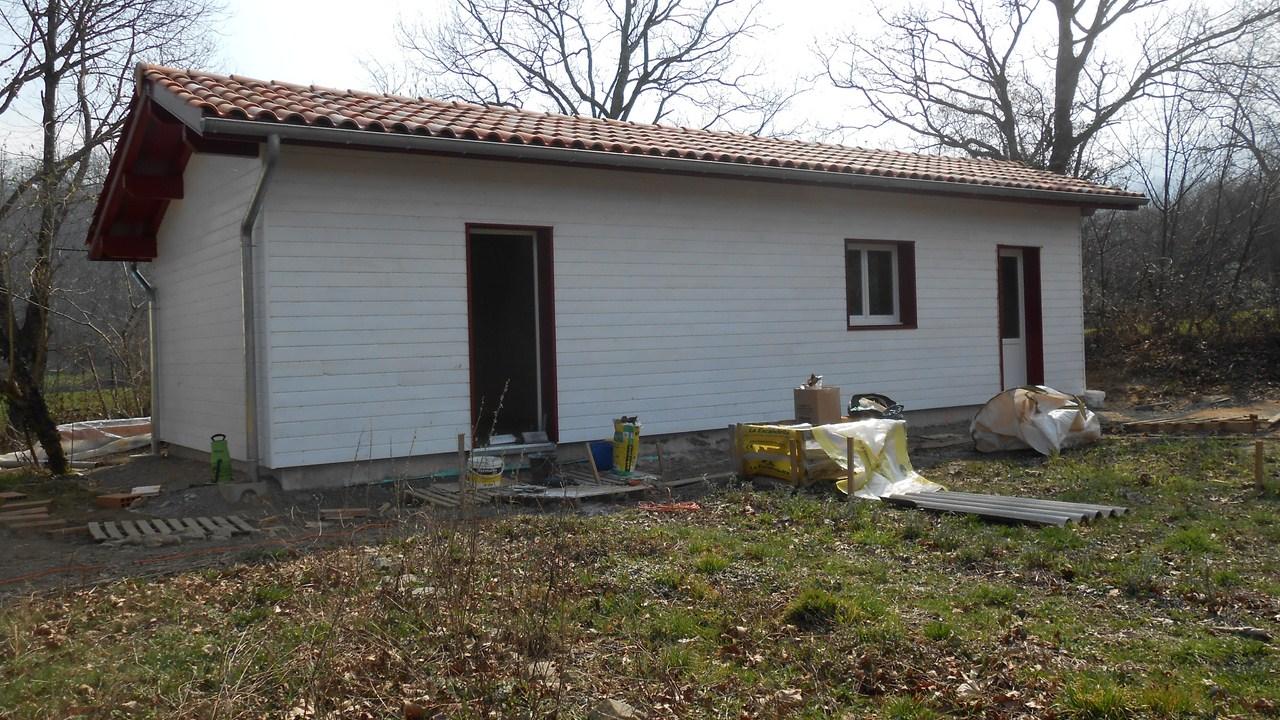 maison ossature bois chantier d anhaux zurlan votre sp cialiste du bois au pays basque. Black Bedroom Furniture Sets. Home Design Ideas