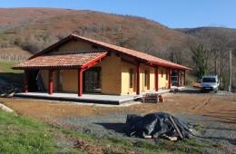 Maison à ossature bois – Chantier F / Irouléguy